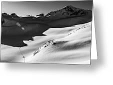 Blackcomb Backcountry Greeting Card by Ian Stotesbury