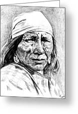 Blackfoot Woman Greeting Card by Toon De Zwart