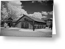 Blacksmith Barn Greeting Card by Paul Bartoszek