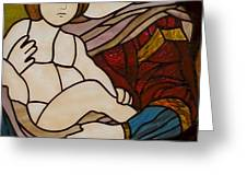 Blessed Art Thou Among Women-Mary Greeting Card by David Gomm