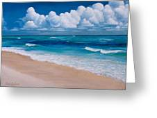 Blessings Found At Playa Del Carmen Greeting Card by Kirk Graham