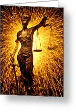 Blind Justice  Greeting Card by Garry Gay