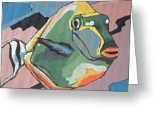 Blond Naso Tang Greeting Card by Sandy Tracey