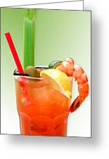 Bloody Mary Hand-crafted Greeting Card by Christine Till