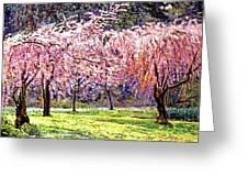 Blossom Fantasy Greeting Card by David Lloyd Glover