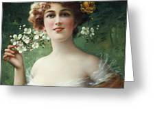 Blossoming Beauty Greeting Card by Emile Vernon