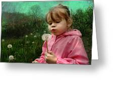 Blow Greeting Card by Julie L Hoddinott