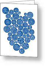 Blue Abstract Greeting Card by Frank Tschakert