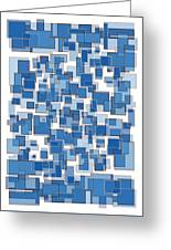Blue Abstract Patches Greeting Card by Frank Tschakert