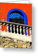 Blue Arch 1 By Michael Fitzpatrick Greeting Card by Olden Mexico
