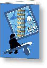 Blue Arthur Greeting Card by Tom Dickson