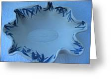 Blue bamboo bowl Greeting Card by Julia Van Dine