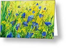 Blue Bells  Greeting Card by Pol Ledent