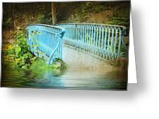Blue Bridge Greeting Card by Svetlana Sewell