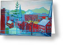 Blue Burlington Greeting Card by Debra Robinson
