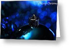 Blue Christmas Greeting Card by Celestial  Blue