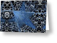 Blue Enmeshed Greeting Card by Ron Bissett