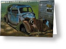 Blue Ford Greeting Card by Doug Strickland