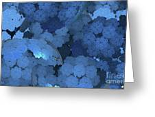 Blue Fungi Greeting Card by Ron Bissett