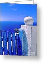 Blue Gate Greeting Card by Silvia Ganora