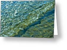 Blue Glass Seascape Greeting Card by Aleck Rich Seddon