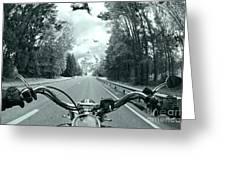 Blue Harley Greeting Card by Micah May