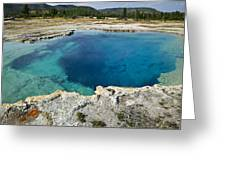 Blue Hot Springs Yellowstone National Park Greeting Card by Garry Gay