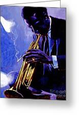 Blue Miles Greeting Card by David Lloyd Glover