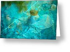 Blue Montage Greeting Card by Bonnie Bruno