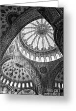 Blue Mosque Greeting Card by Leslie Leda