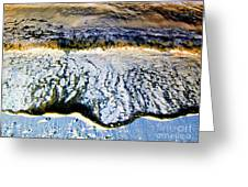 Blue Oil Greeting Card by Silvie Kendall