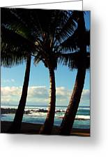 Blue Palms Greeting Card by Karen Wiles