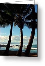 Blue Palms Greeting Card by Karen Wiles