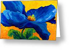Blue Poppy Greeting Card by Mmarion Rose