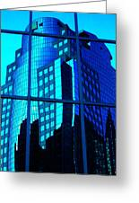Blue Reflections ... Greeting Card by Juergen Weiss