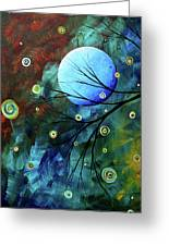 Blue Sapphire 1 By Madart Greeting Card by Megan Duncanson