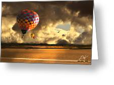Blue Skies Ahead Greeting Card by Artist and Photographer Laura Wrede