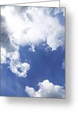 Blue Sky And Cloud Greeting Card by Setsiri Silapasuwanchai