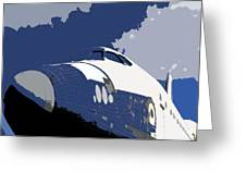 Blue sky shuttle Greeting Card by David Lee Thompson