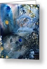 Blue Star Rising Greeting Card by Lee Pantas