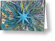 Blue Star Shining At Me Greeting Card by Anne-Elizabeth Whiteway
