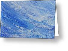 Blue Greeting Card by Teresa Wegrzyn