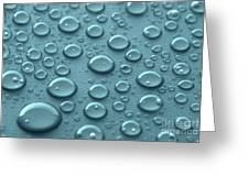 Blue Water Drops Greeting Card by Blink Images