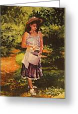 Blueberry Girl Greeting Card by Elizabeth Carr