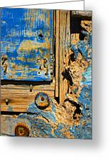 Blues Dues Greeting Card by Skip Hunt