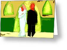 BLUSHING BRIDE AND GROOM 2 Greeting Card by Patrick J Murphy