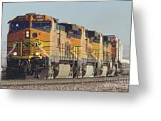 Bnsf Freight Train Greeting Card by Richard R Hansen and Photo Researchers
