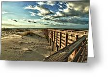 Boardwalk On The Beach Greeting Card by Michael Thomas