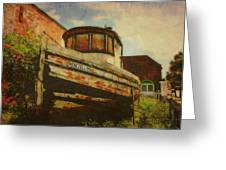 Boat At Apalachicola Greeting Card by Toni Hopper