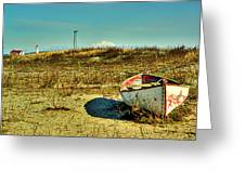 Boat At Point Wilson Greeting Card by Dale Stillman